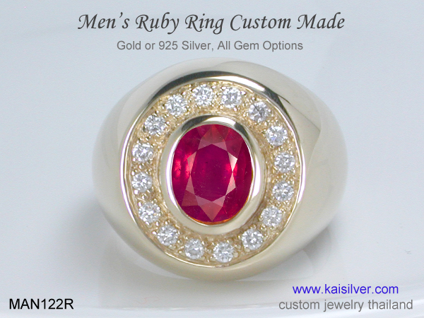thailand ruby rings for men